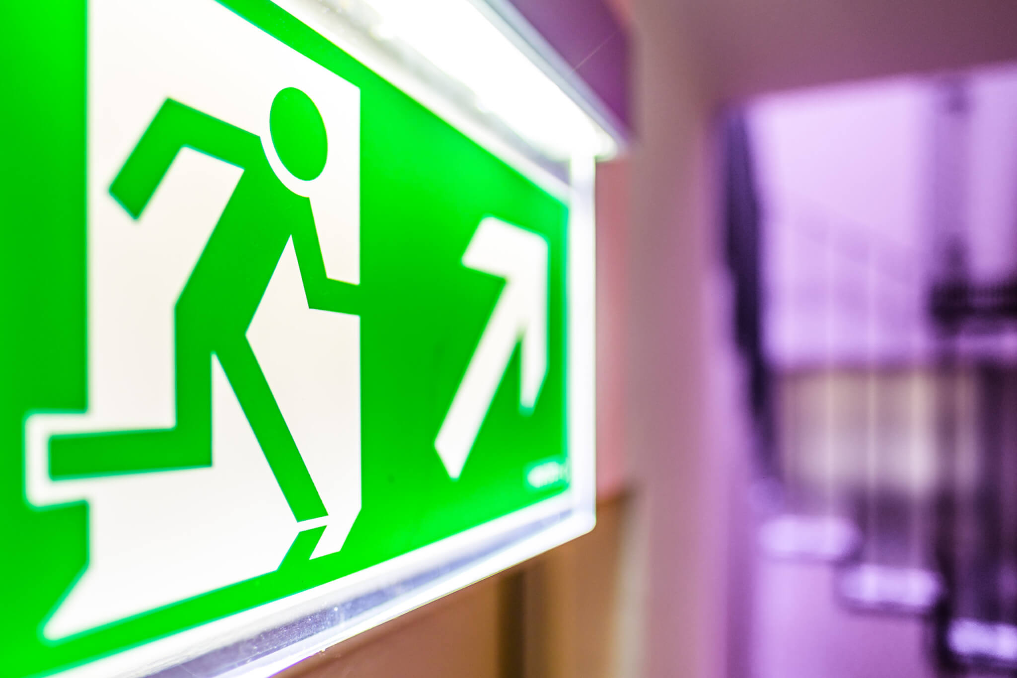 modern emergency exit sign - photo