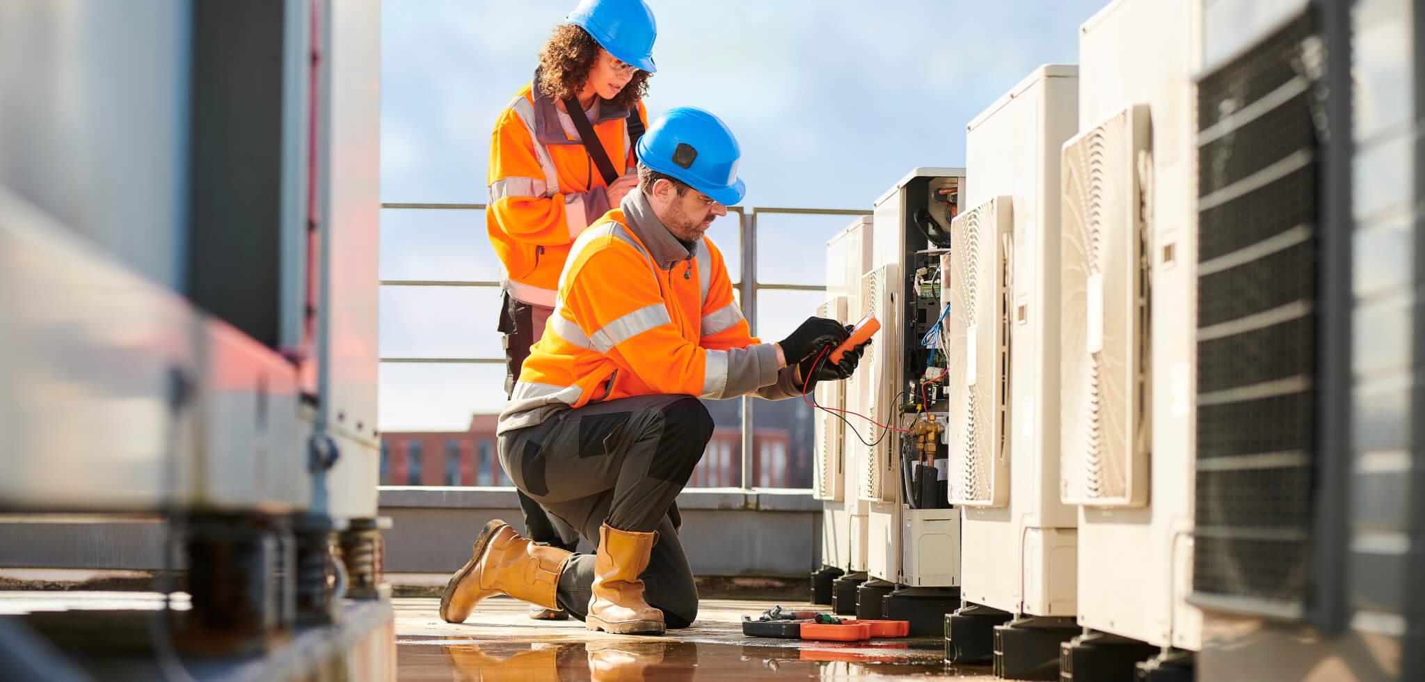rooftop air con installation